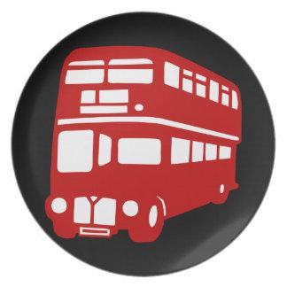 autobús de Londres del inglés Plato De Comida