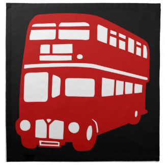 autobús de Londres del inglés Servilleta