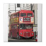 Autobús de Londres del vintage Tejas Cerámicas