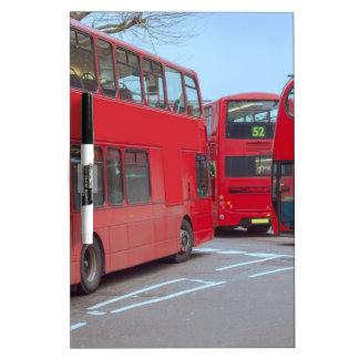 Autobús de Londres Tableros Blancos