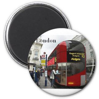 Autobús de Londres (St.K) Imán Redondo 5 Cm