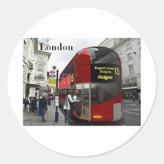 Autobús de Londres (St.K) Pegatina Redonda