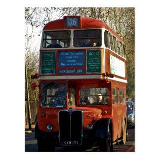 Autobús de Londres - vintage Tarjetas Postales