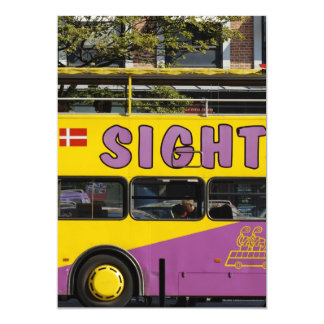 """Autobús de visita turístico de excursión invitación 5"""" x 7"""""""