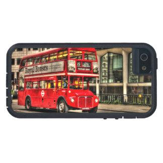 Autobús del autobús de dos pisos de Londres del iPhone 5 Fundas