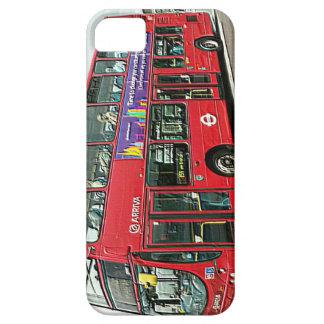 Autobús del autobús de dos pisos en el puente de funda para iPhone SE/5/5s