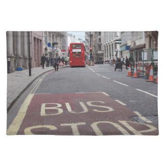 Autobús del autobús de dos pisos en Londres Manteles