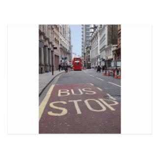 Autobús del autobús de dos pisos en Londres Tarjetas Postales
