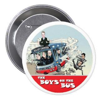 Autobús del GOP Pin Redondo De 3 Pulgadas