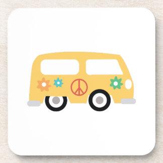 Autobús del hippy posavasos