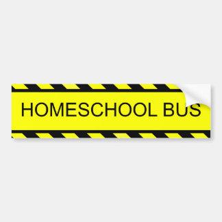 autobús del homeschool pegatina para auto