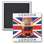Autobús del imán W. Londres del refrigerador y ban