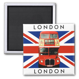 Autobús del imán W Londres del refrigerador y ban