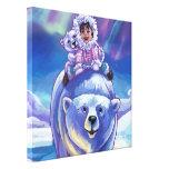 Autobús del oso polar lona estirada galerías