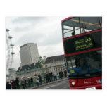 Autobús del rojo de Londres Tarjeta Postal