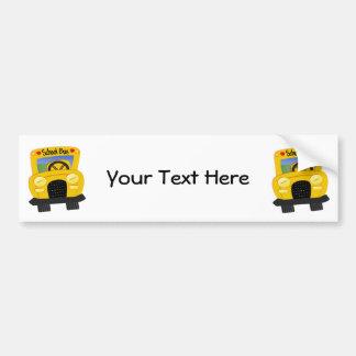 Autobús escolar 2 (personalizable) pegatina de parachoque