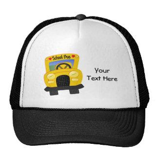 Autobús escolar 2 personalizable gorros bordados