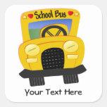 Autobús escolar 2 (personalizable) colcomanias cuadradas personalizadas