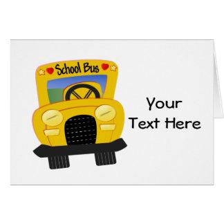 Autobús escolar 2 (personalizable) tarjeta de felicitación
