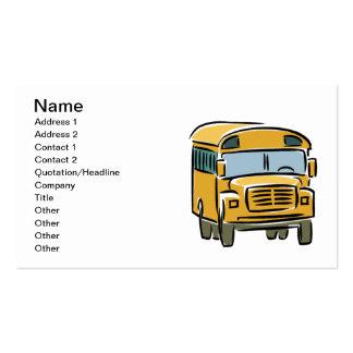 Autobús escolar 2 tarjetas de visita
