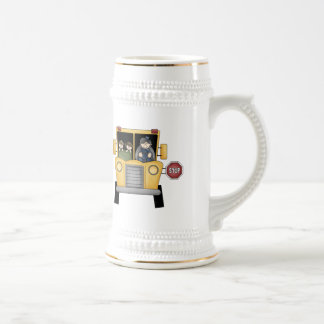 Autobús escolar 2 taza de café