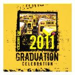 Autobús escolar 9 de la invitación de la fiesta de