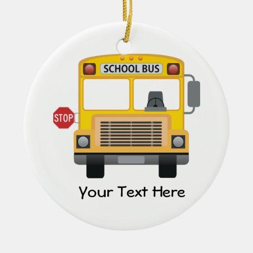 Autobús escolar adaptable ornamentos para reyes magos