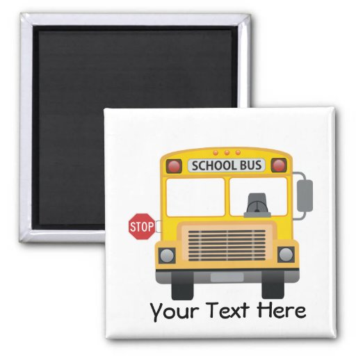 Autobús escolar adaptable imán para frigorífico