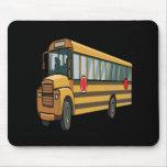 Autobús escolar alfombrilla de raton
