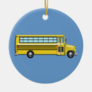 Autobús escolar amarillo estupendo adorno de reyes
