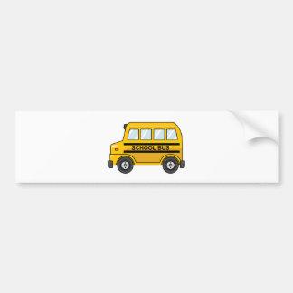 Autobús escolar amarillo y negro del dibujo pegatina para auto