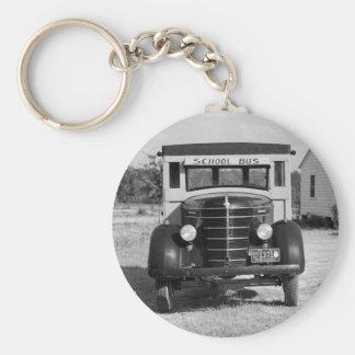 Autobús escolar antiguo, Greensboro, Georgia, 1941 Llavero Redondo Tipo Pin