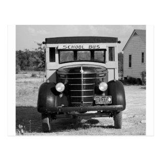 Autobús escolar antiguo, Greensboro, Georgia, 1941 Postal