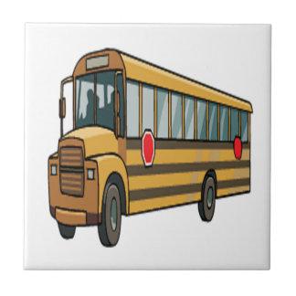 Autobús escolar azulejo cuadrado pequeño