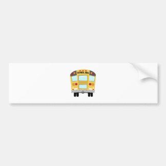 Autobús escolar pegatina de parachoque