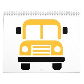 Autobús escolar calendario de pared