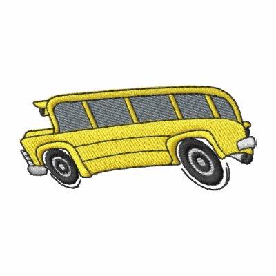 Autobús escolar sudadera bordada con capucha