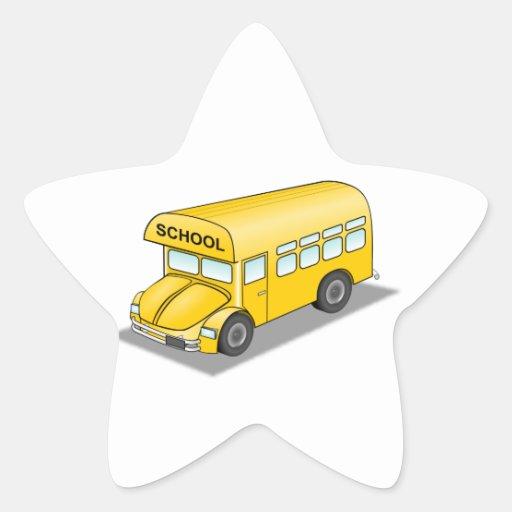 Autobús escolar corto pegatinas forma de estrellaes personalizadas
