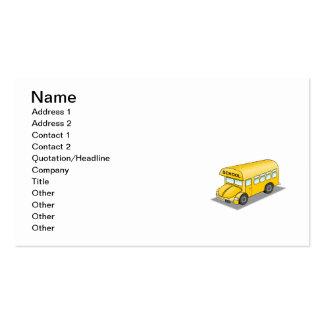 Autobús escolar corto tarjetas de visita