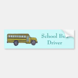 Autobús escolar de encargo etiqueta de parachoque