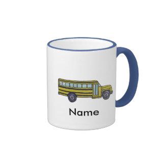 Autobús escolar de encargo taza de dos colores