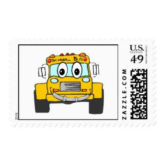 Autobús escolar de la sonrisa sello postal