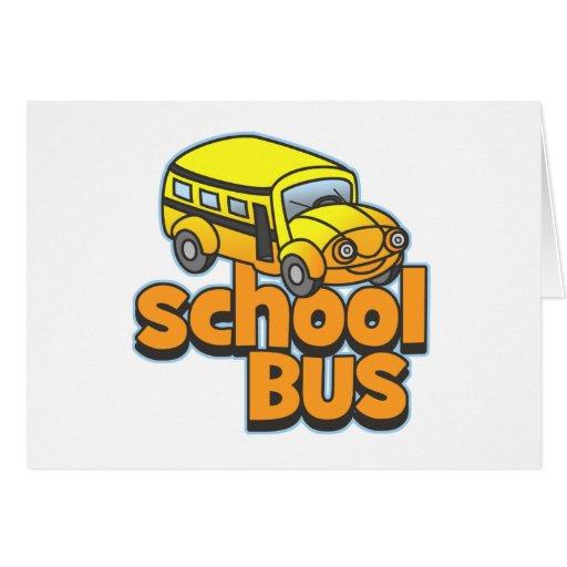 Autobús escolar de los niños felicitación