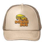 Autobús escolar de los niños gorro de camionero