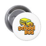 Autobús escolar de los niños pins