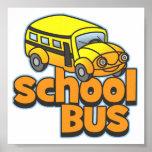 Autobús escolar de los niños poster