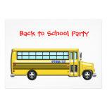 Autobús escolar de nuevo a PERSONALIZAR del fiesta Invitaciones Personalizada