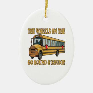 Autobús escolar ornamento para arbol de navidad