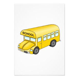 Autobús escolar del dibujo animado anuncio personalizado