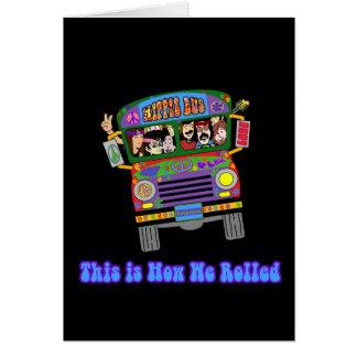 Autobús escolar del Hippie Tarjeta De Felicitación
